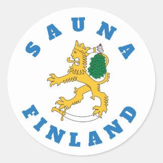 Suomileijona – Sauna-Finland – tarrat Classic Round Sticker