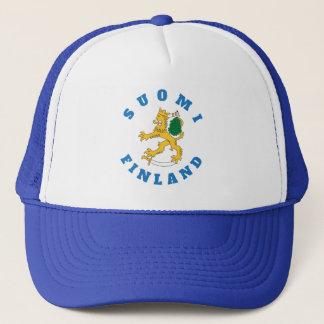 Suomileijona saunassa Suomi-Finland, lippalakki Trucker Hat