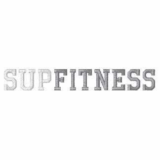 SUP FITNESS EMBROIDERED HOODED SWEATSHIRTS