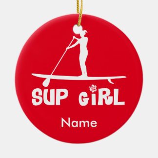 SUP Girl Christmas Ornament