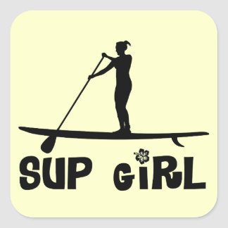 SUP Girl Square Sticker