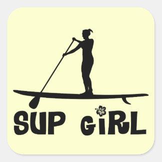 SUP Girl Square Sticker