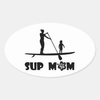 SUP Mom Oval Sticker