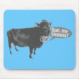 'sup my vegans mouse mat