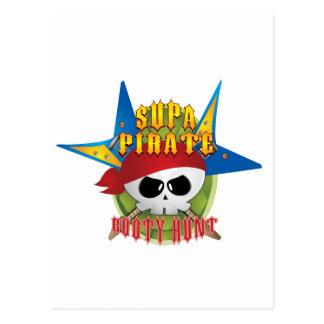 Supa Pirate Booty Hunt Postcard