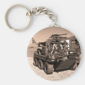Supacat. The  all terrain six wheeled army vehicle Basic Round Button Key Ring