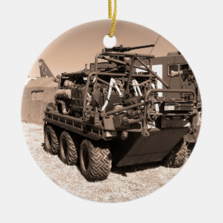 Supacat. The  all terrain six wheeled army vehicle Christmas Ornament
