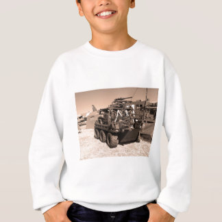 Supacat. The  all terrain six wheeled army vehicle Sweatshirt