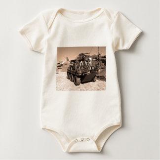 Supacat. The  all terrain six wheeled army vehicle Baby Bodysuit