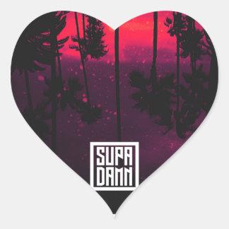 SUPADAMN Bleed Cover Art Heart Sticker