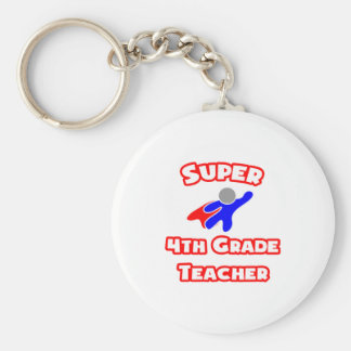 Super 4th Grade Teacher Keychain