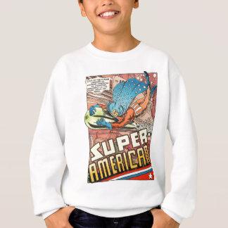 SUPER AMERICAN 1940's PULP COMICS HERO Sweatshirt