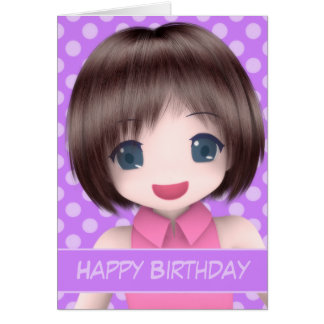 Super Anime Birthday Card