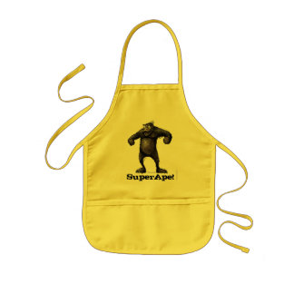Super Ape - Funny Monkey Kids Apron