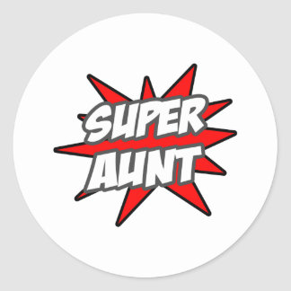 Super Aunt Round Sticker