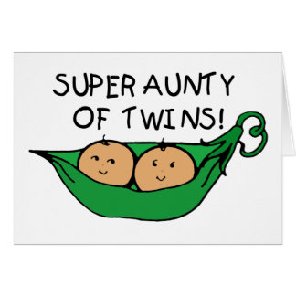 Super Aunty of Twins Pod Greeting Card
