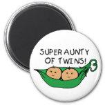 Super Aunty of Twins Pod Magnets