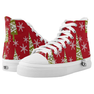 Super Awesome Christmas High Top ZIPZ Shoes!