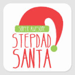 Super AWESOME Stepdad santa Stickers
