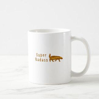 Super Badass Honey Badger - Vintage Basic White Mug