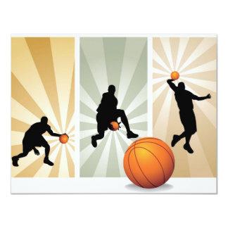 super-basketball 11 cm x 14 cm invitation card
