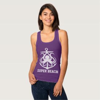 Super Beach ! funny  anchor octopus purple Tank Top