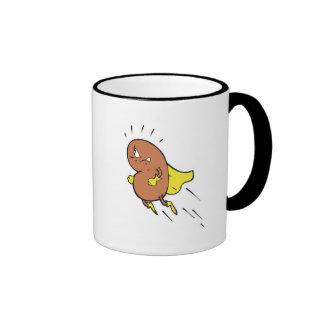 super bean cartoon character ringer mug