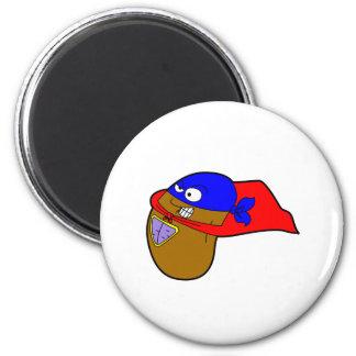 super bean 6 cm round magnet