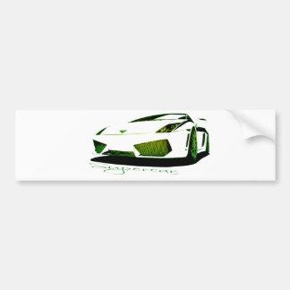 super because green yellow bumper sticker