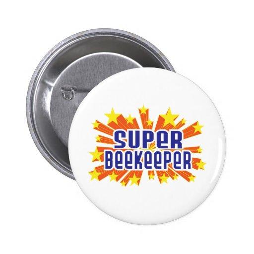 Super Beekeeper 6 Cm Round Badge