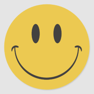 Super big smile happy face Emoji Classic Round Sticker