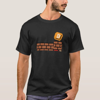 Super Bitcoin Block (HQ Dark Colors Shirt) T-Shirt