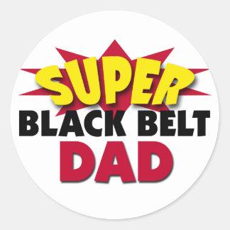 Super Black Belt Dad Round Sticker