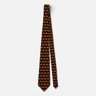 Super Blood Moon and Black Cat Silhouette Mens Tie