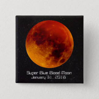 Super Blue Blood Moon 2018 15 Cm Square Badge