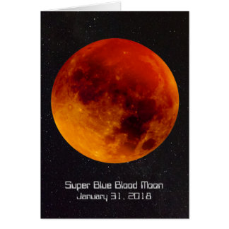 Super Blue Blood Moon 2018 Card
