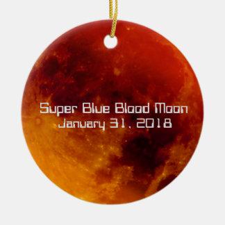Super Blue Blood Moon 2018 Christmas Ornament