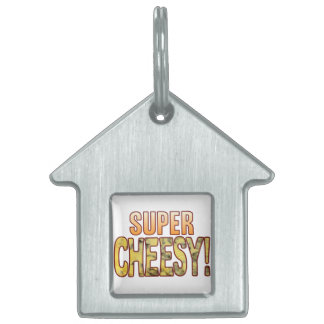 Super Blue Cheesy Pet ID Tag