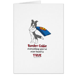 Super Border Collie blue merle Greeting Card