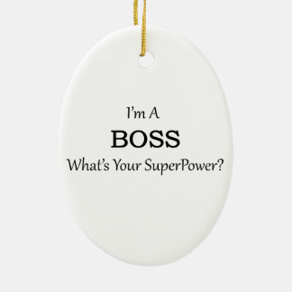 Super Boss Christmas Ornament
