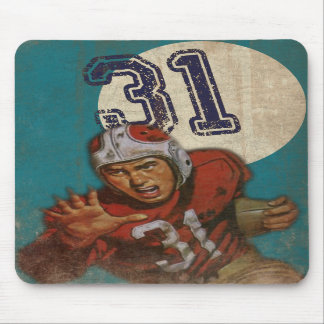 Super Bowl Mousepad With Cool Vintage Print