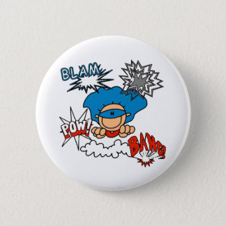 Super Boy Blam Bang Pow 6 Cm Round Badge