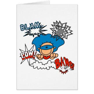 Super Boy Blam Bang Pow Greeting Cards