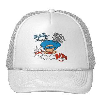 Super Boy Blam Bang Pow Trucker Hats