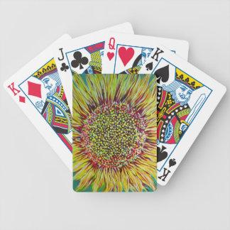 Super Bright Sunflower Designer Playing Cards