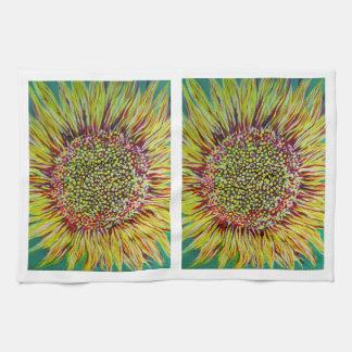 Super Bright Sunflower Kitchen Towels