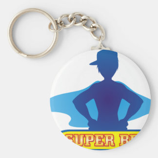Super Brother with Cape Basic Round Button Key Ring
