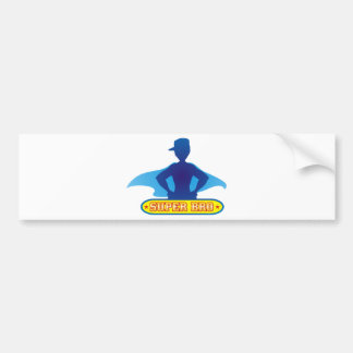Super Brother with Cape Bumper Stickers