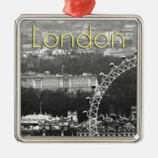 Super! Buckingham Palace London Silver-Colored Square Decoration