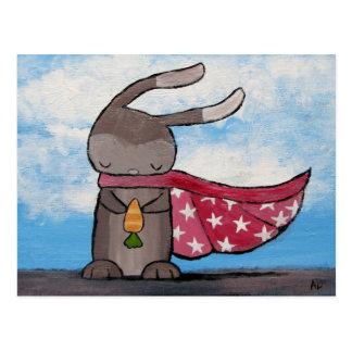 Super Bunny Postcard